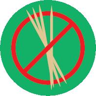 no usamos palillos de dientes